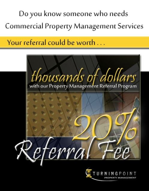 Turning Point Real Estate Commercial Property Management Referral Program